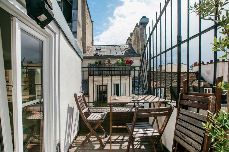 terrazas diseno exteriores-balcon pequeno barandillas altas ideas