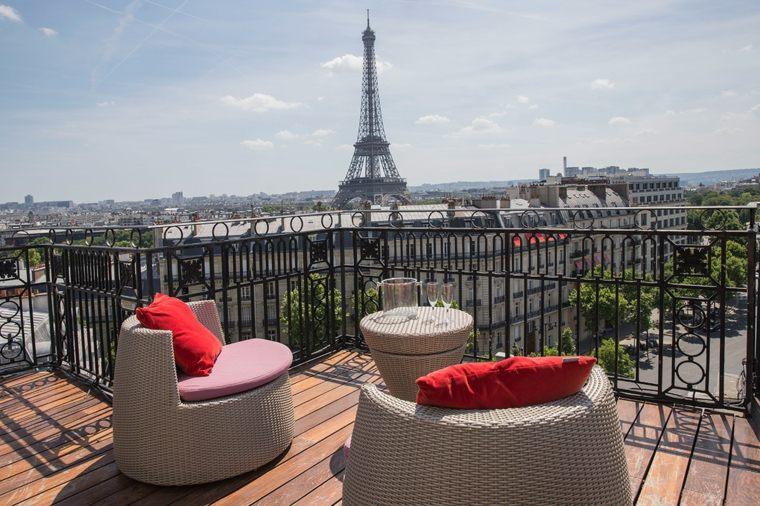 terrazas diseno exteriores balcon precioso vistas Paris ideas