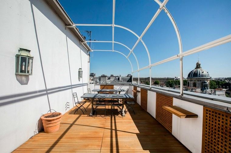 terrazas diseno exteriores comedor terraza amplia ideas