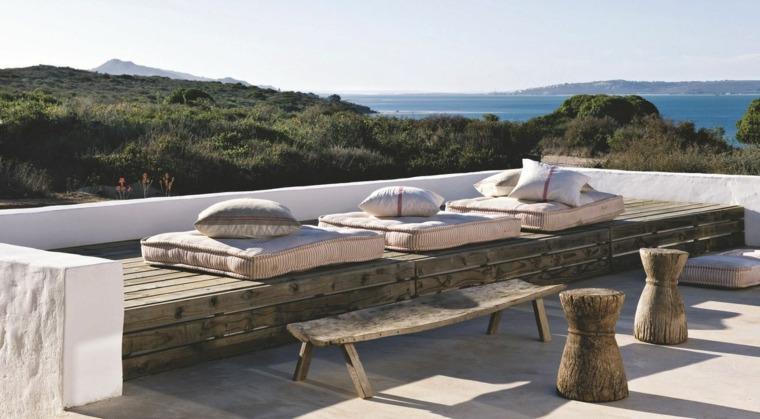 terrazas diseno exteriores estilo rustico muebles ideas
