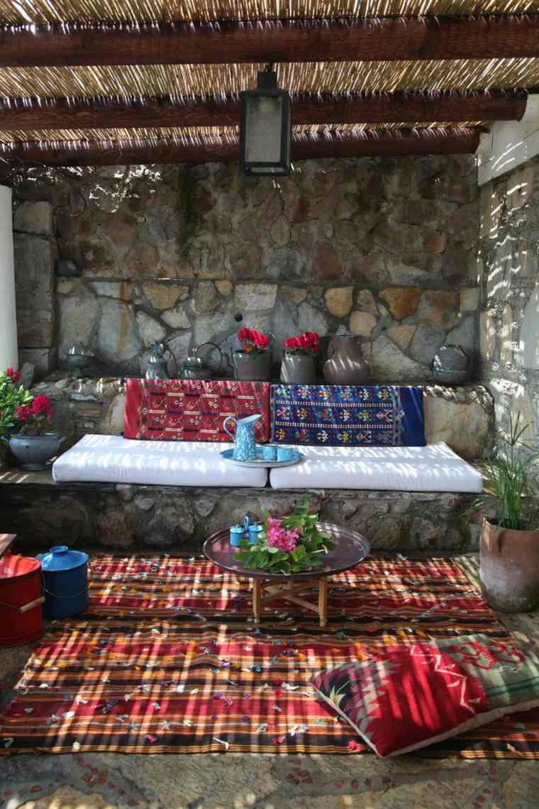 terrazas diseno rustico colorido aire libre ideas