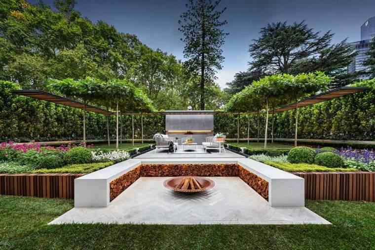 terrazas jardin lujoso moderno