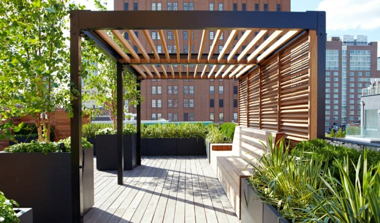 terrazas pisos exteriores muestras conceptos maceteros
