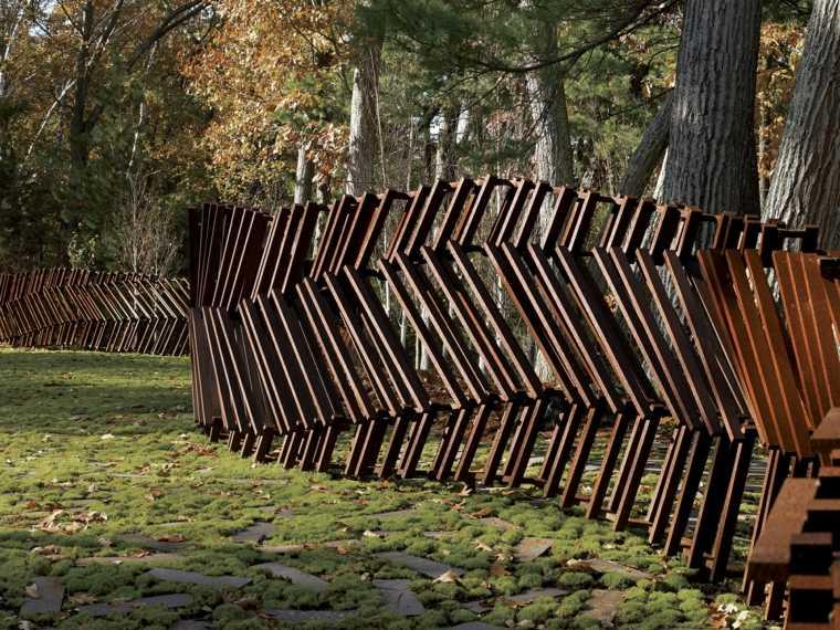 valla forma original jardin opciones ideas