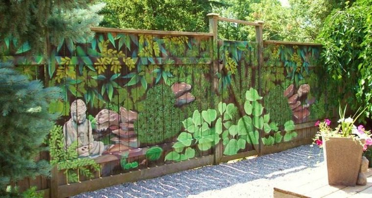 valla jardin decorada pintura