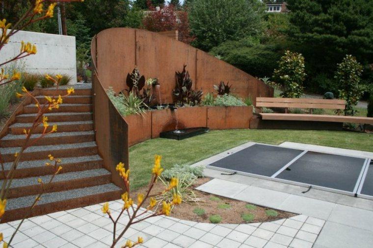 valla jardin acero corten