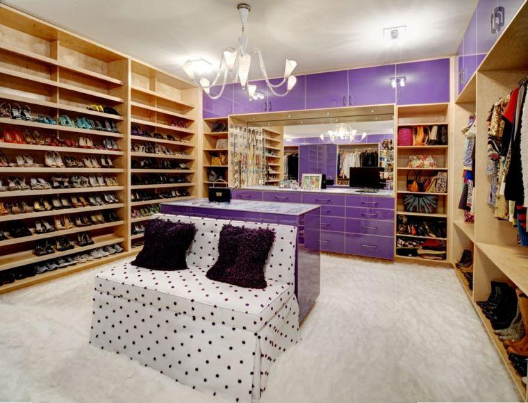 vestidor amplio armarios color purpura ideas