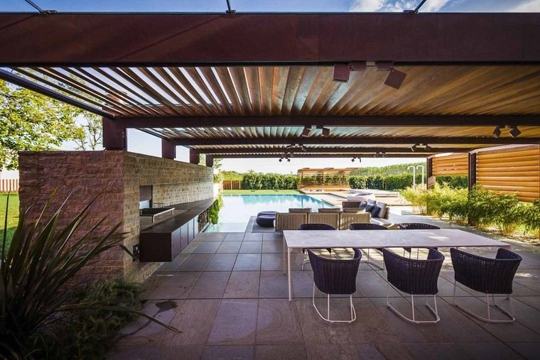 zona comfort jardin moderno lugar comidas ideas