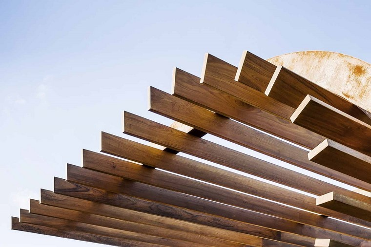 zona comfort jardin moderno madera pergola ideas