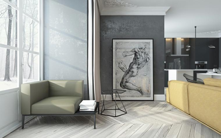 Diseños de interiores oscuros - dos modelos de casas modernas -