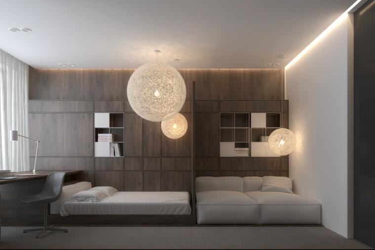 Igor Sirotov habitacion moderna lámparas