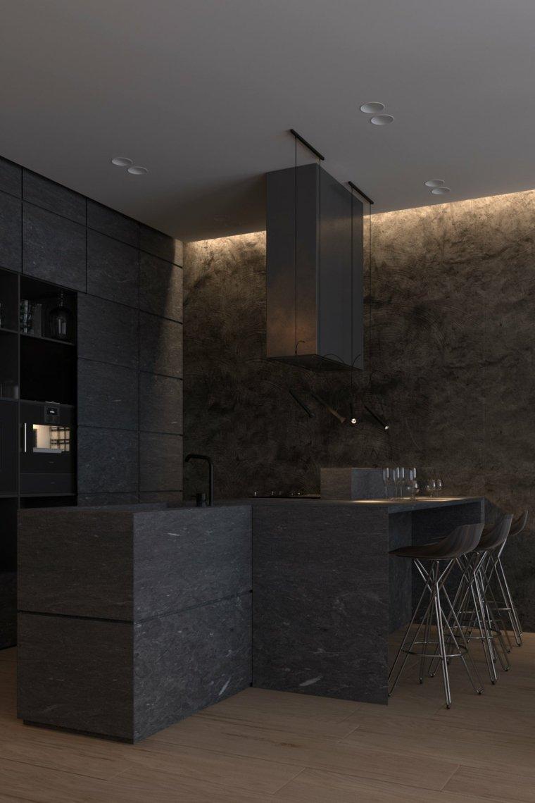 Igor Sirotov muebles cocina color negro
