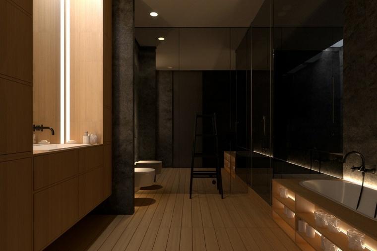 Igor Sirotov cuarto baño suelo madera