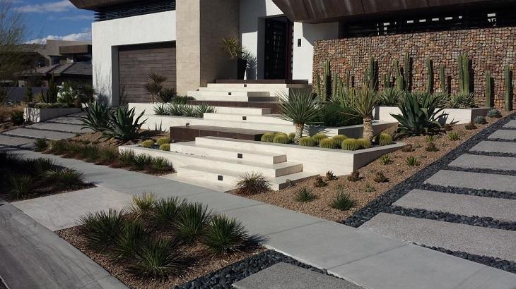 Sage Design Studios gabion walls modern garden ideas