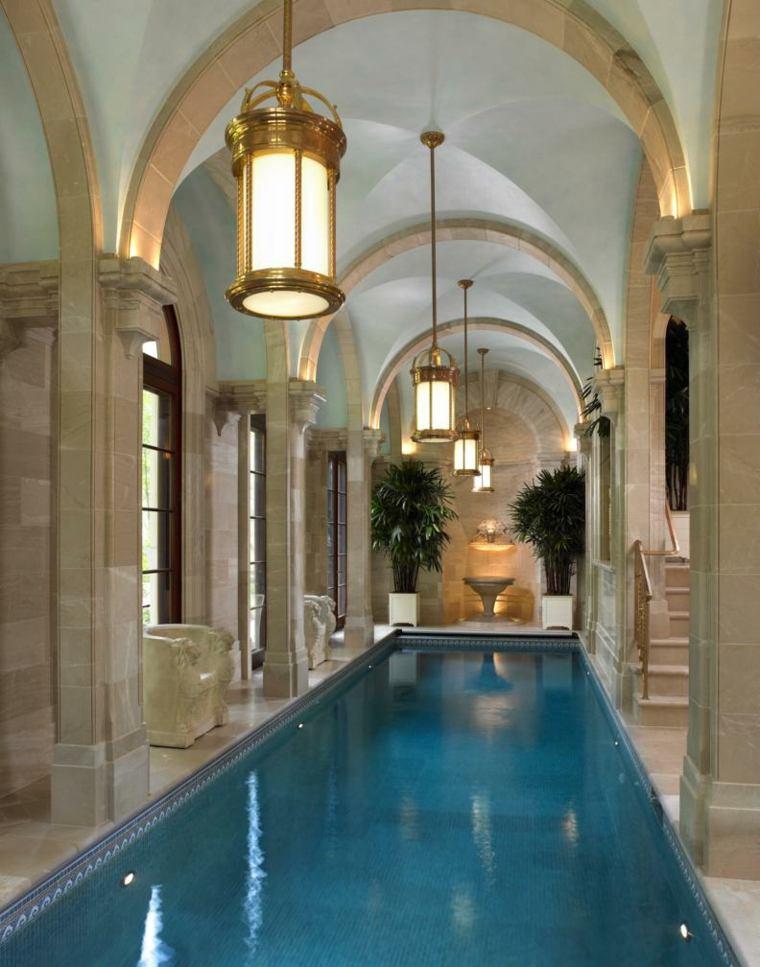piscina interior moderna casa diseno clasico original