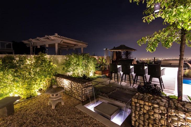 Studio H Landscape Architecture design gabion walls garden ideas
