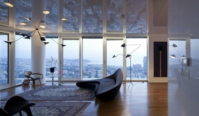 apartamento Tel Aviv diseno moderno salon amplio ideas