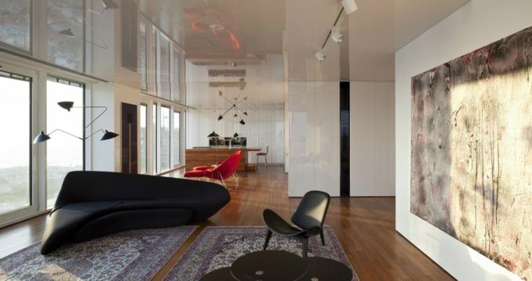 apartamento Tel Aviv diseno moderno salon luminoso ideas