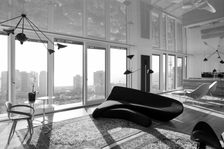 apartamento Tel Aviv diseno moderno salon muebles diseno ideas
