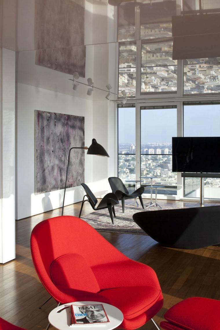 apartamento Tel Aviv diseno moderno salon plano abierto ideas