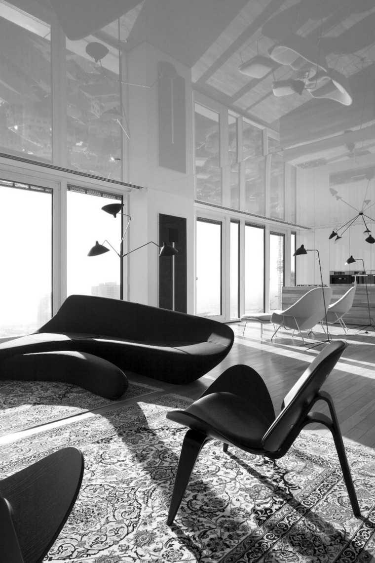 apartamento Tel Aviv diseno moderno salon silla ideas