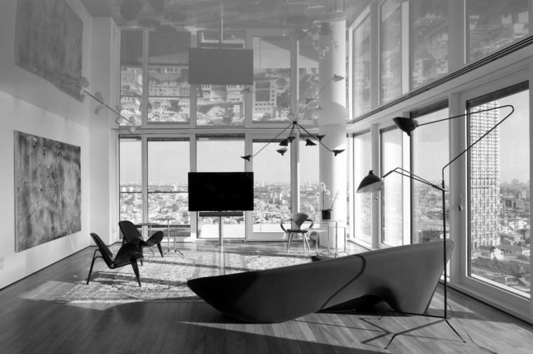 apartamento Tel Aviv diseno moderno salon ideas