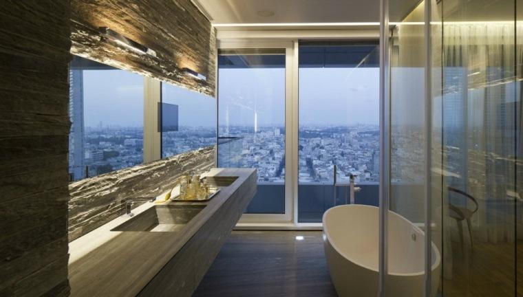 apartamentos Tel Aviv diseno opciones moderno dos lavabos ideas