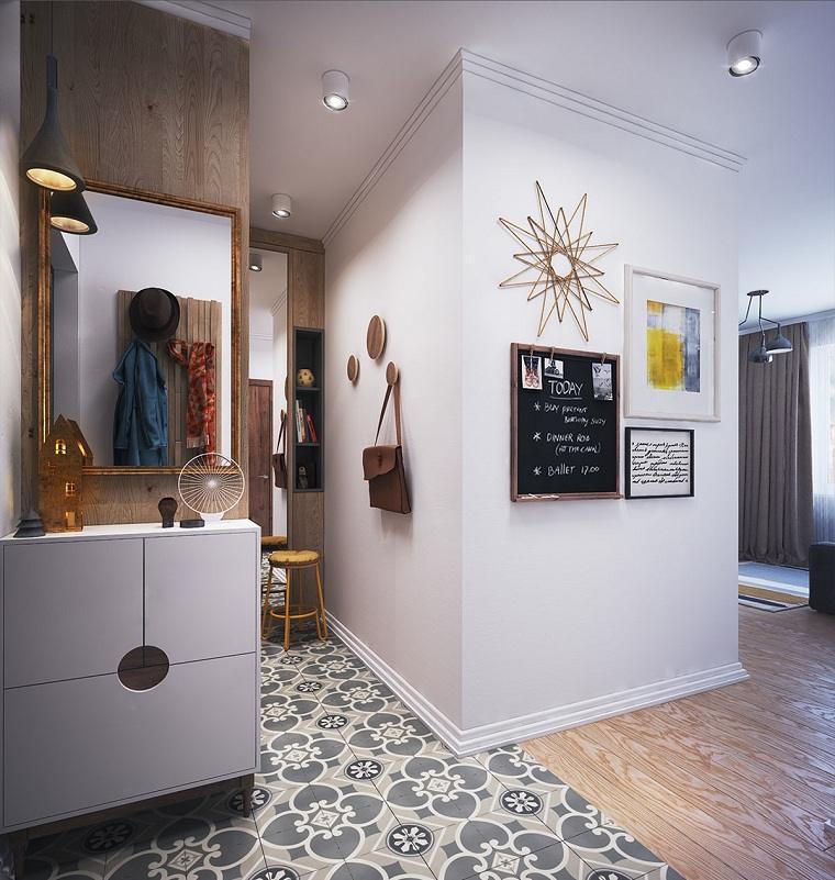 apartamentos diseños cuadros amarillo madera