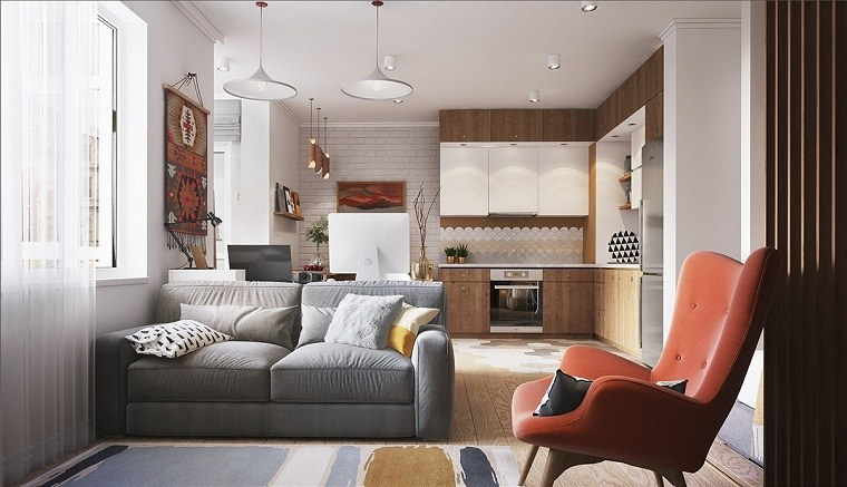 Apartamentos dise os para espacios peque os funcionales for Sillones para apartamentos pequenos