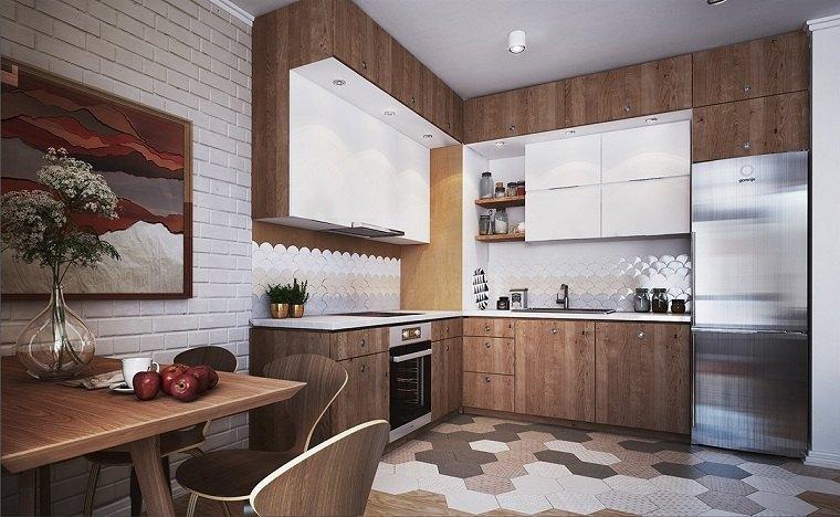 apartamentos diseños mesas materiales madera