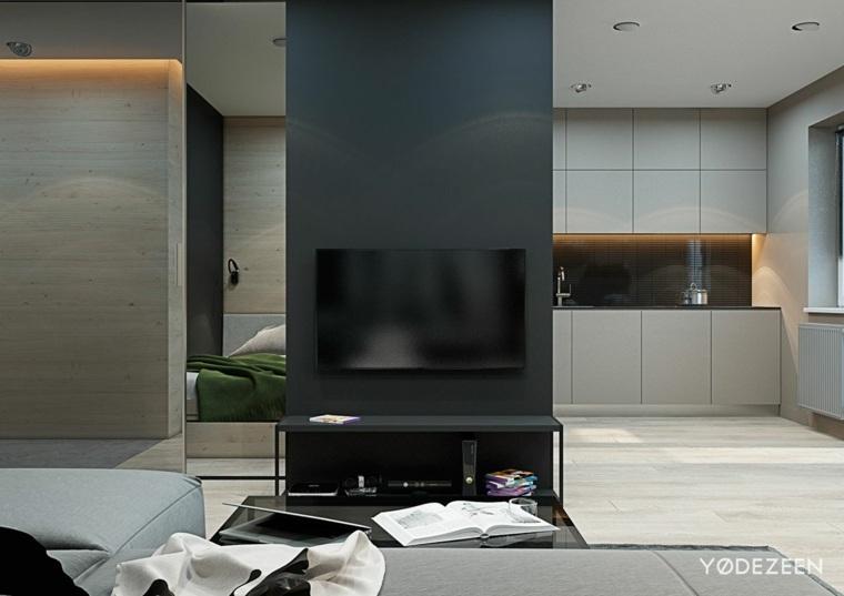 apartamentos pequeños cocina salón espacio