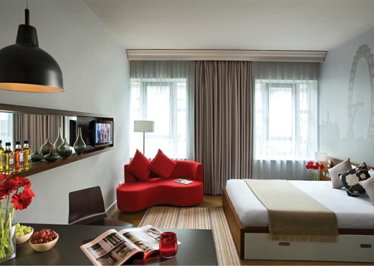 apartamentos pequeños dormitorio cocina salón