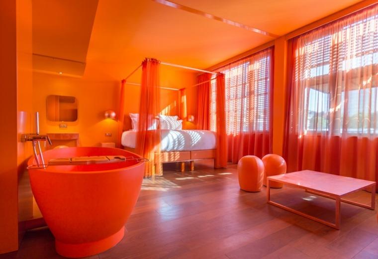 atardecer habitacion colorido muestras cortinas