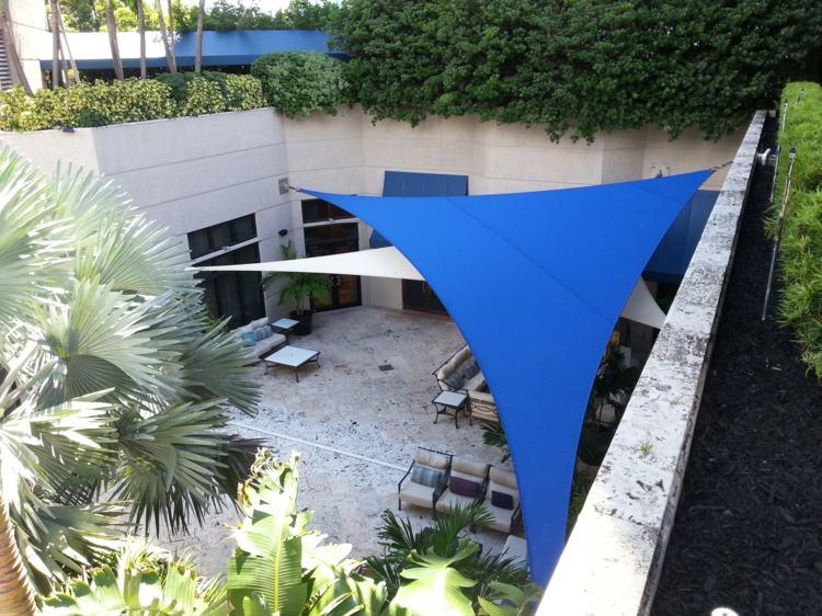 azules patio modernos frentes grava
