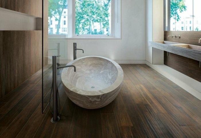 bañeras piedra natural suelo contraste ventanas