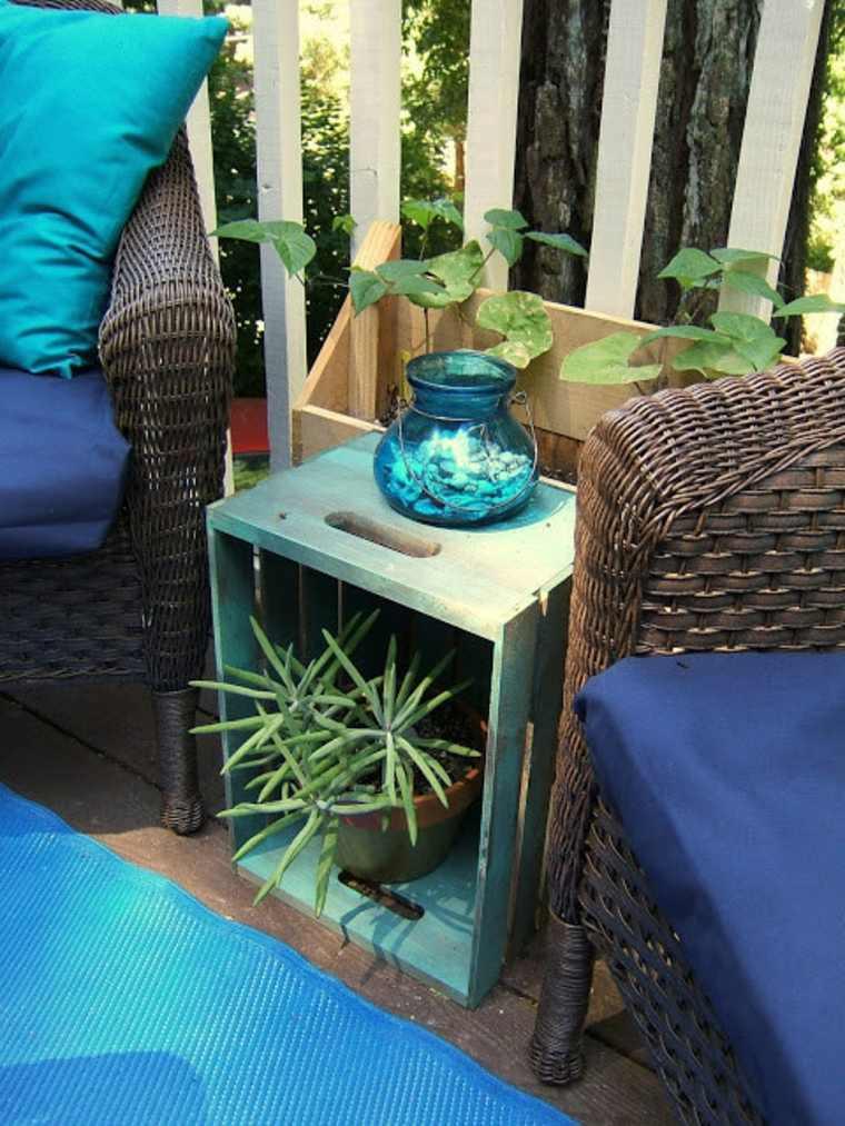 balcones modernos diseno muebles detalles mesita caja madera ideas