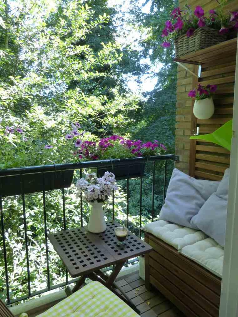 balcones modernos diseno muebles detalles mesita pequena ideas