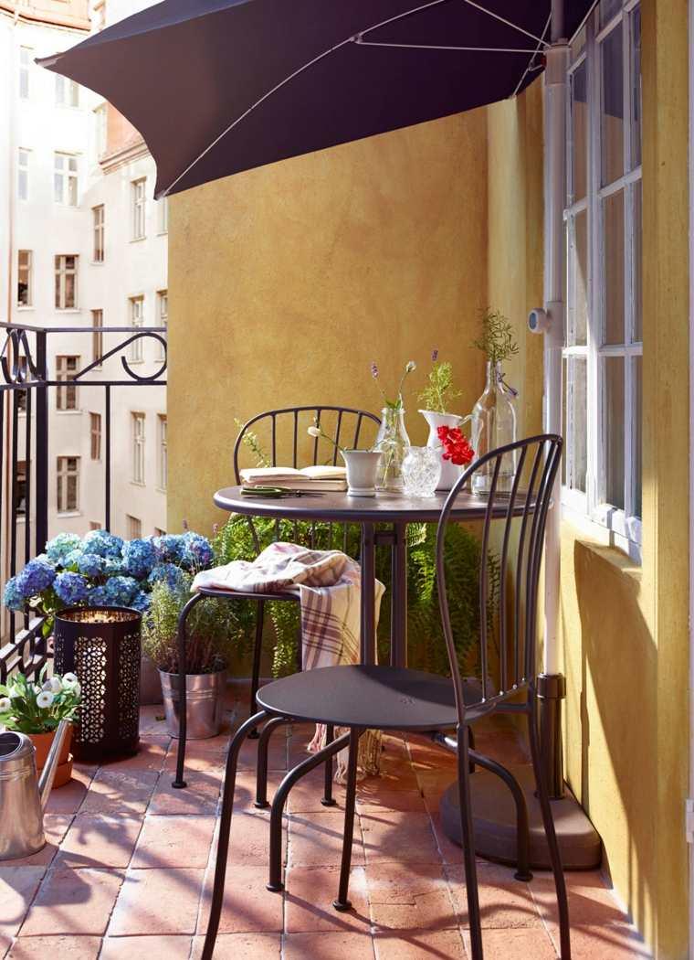 balcones modernos diseno muebles detalles sillas negras ideas