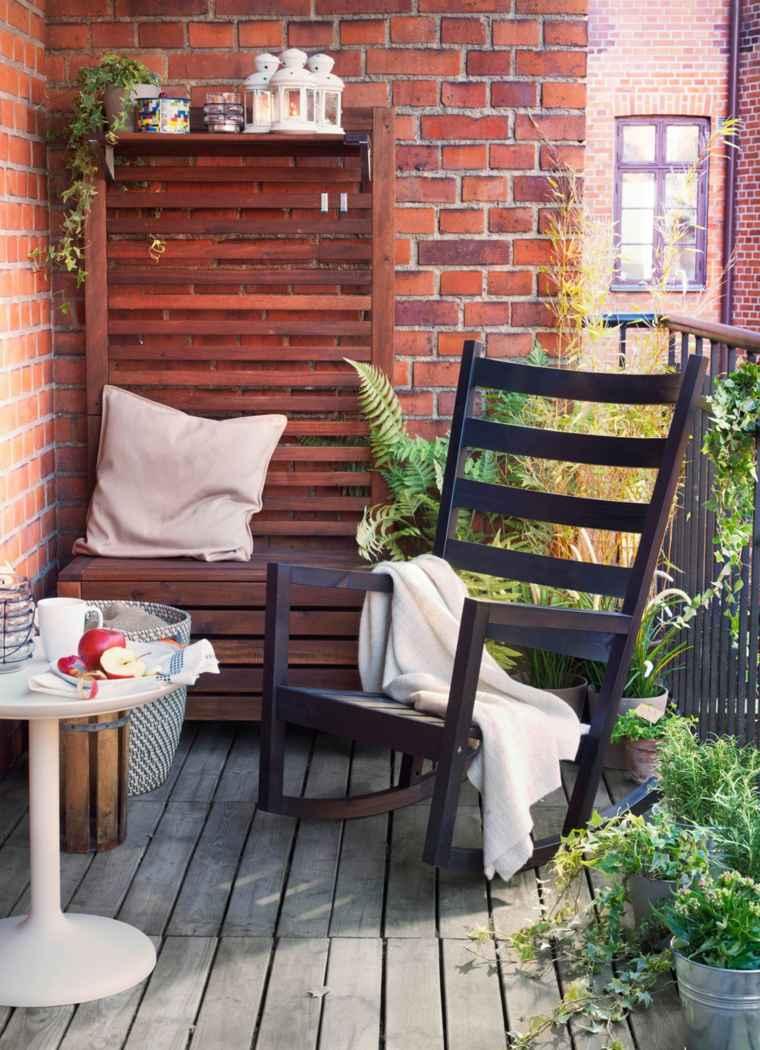 balcones modernos diseno muebles detalles sillon madera ideas