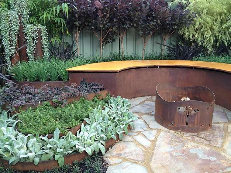 banco jardin paisaje moderno