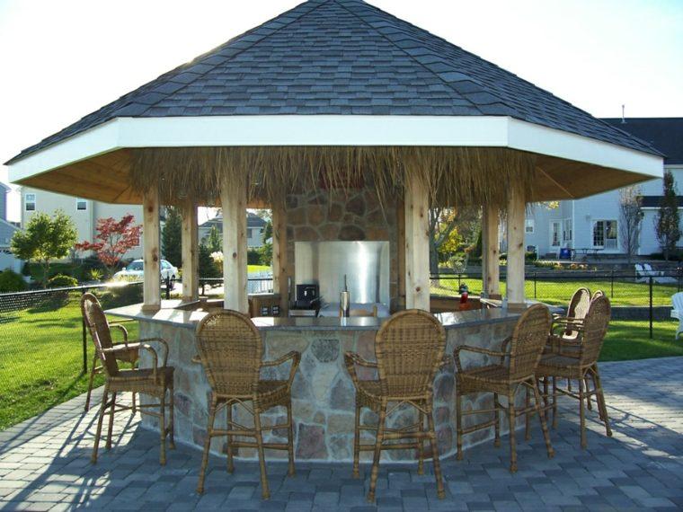 diseño cocinas exteriores jardin