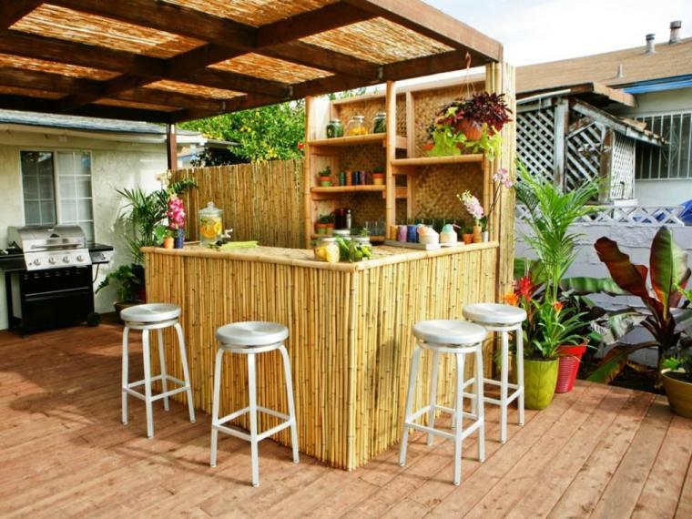 Bares y cocinas en el jard n 24 ideas para inspirarte - Barras de bar para cocinas ...