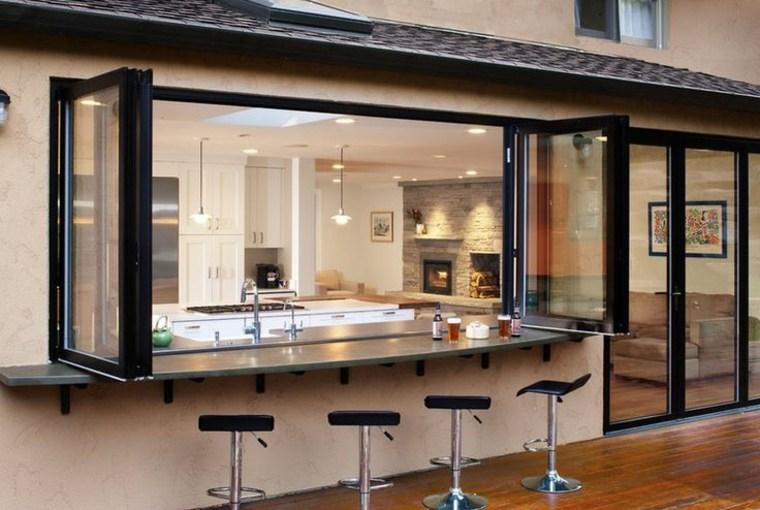 barra bar ventana cocina moderna