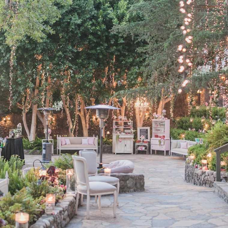 boda estilo vintage jardin muebles decoracion ideas