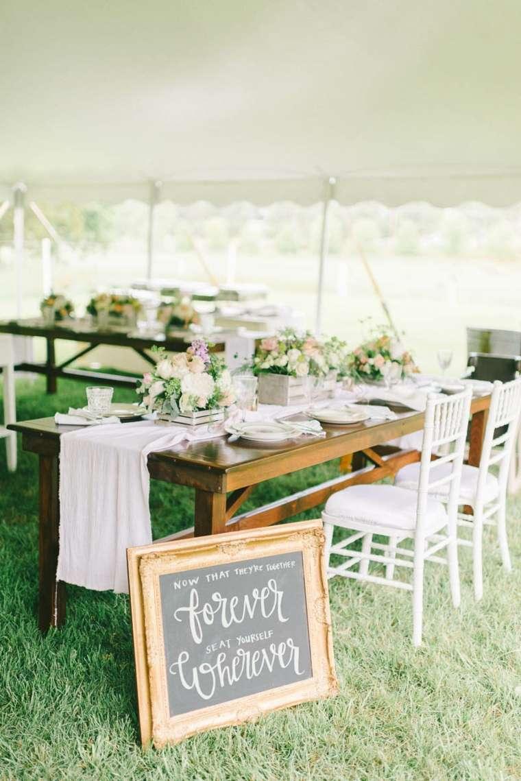 decoración vintage para bodas boda estilo vintage romatica jardin mesas madera ideas