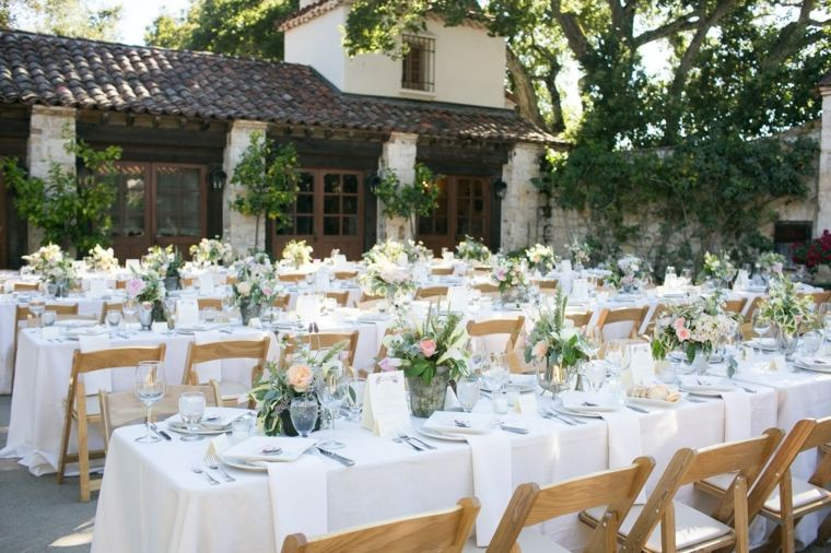 Decoraci n vintage para bodas 27 ideas cl sicas - Decorar mesas de jardin ...