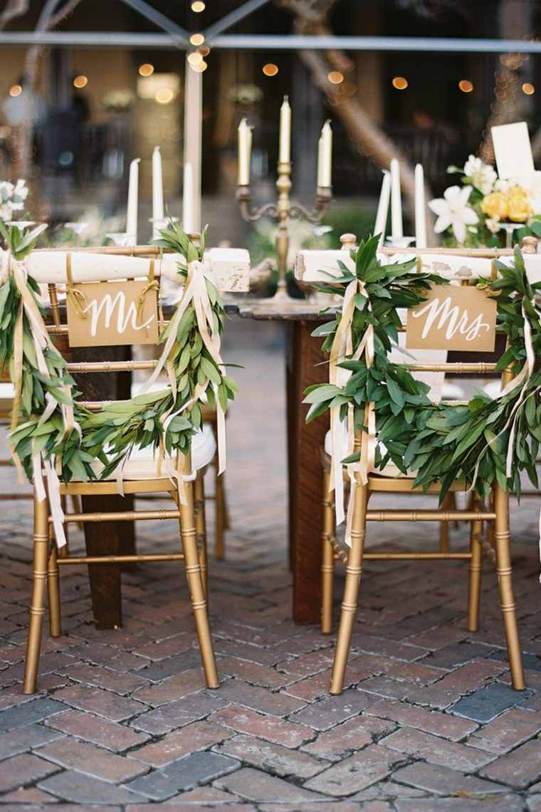 decoración vintage para bodas boda vintage estilo sillas novios ideas