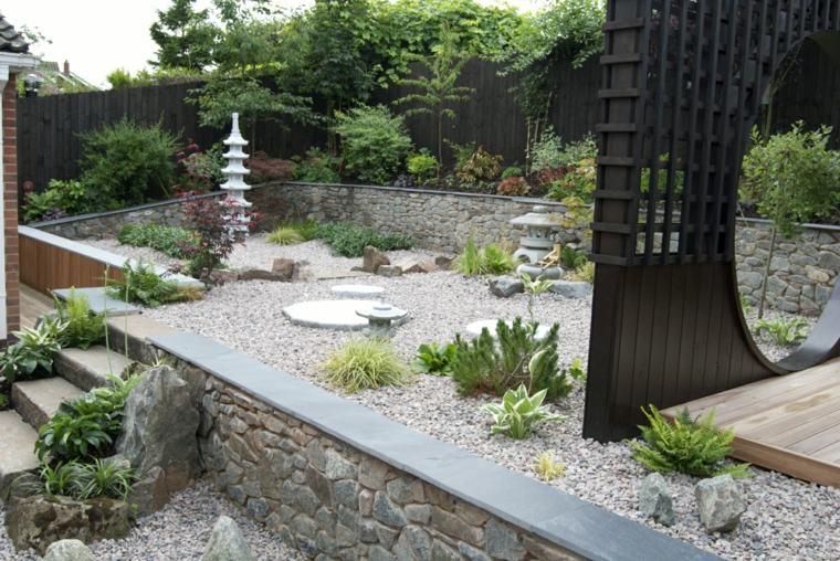 bonito jardín estilo zen