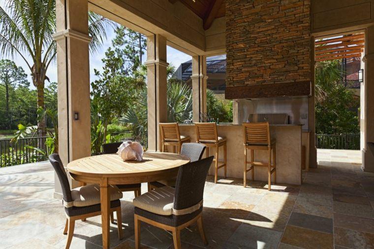 Bares y cocinas en el jard n 24 ideas para inspirarte - Cocinas con salida al patio ...