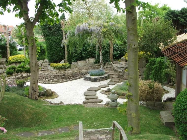 bonito diseño paisaje estilo zen